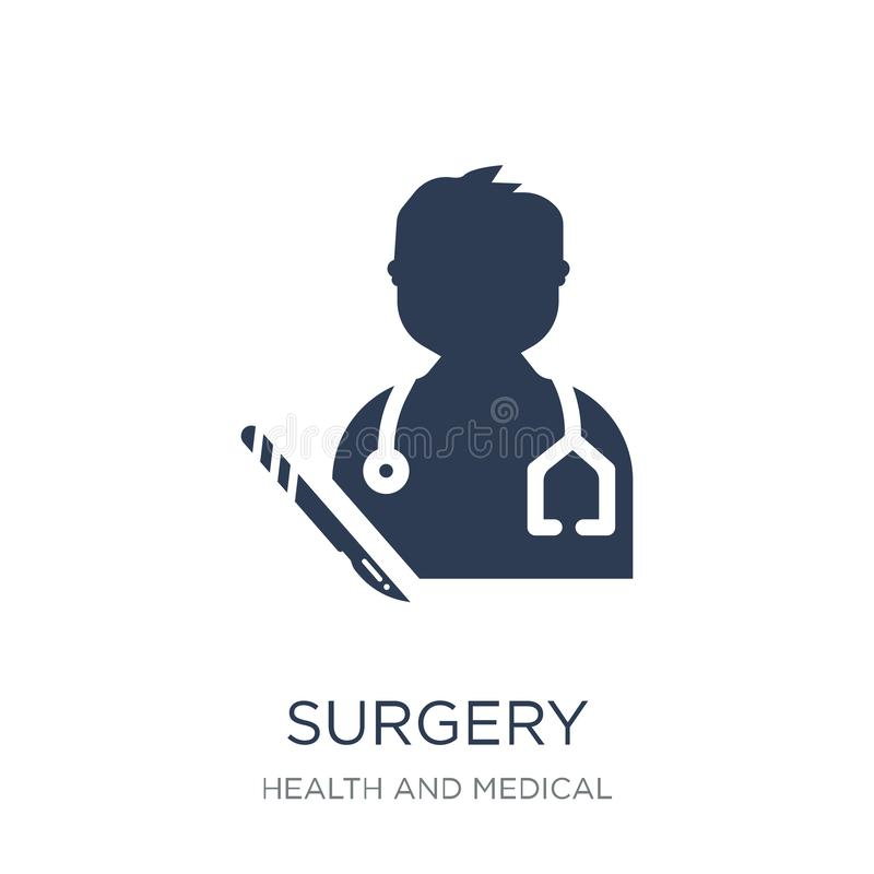 Surgery icon. Trendy flat vector Surgery icon on white background from Health and Medical collection. Vector illustration can be use for web and mobile, eps10 royalty free illustration
