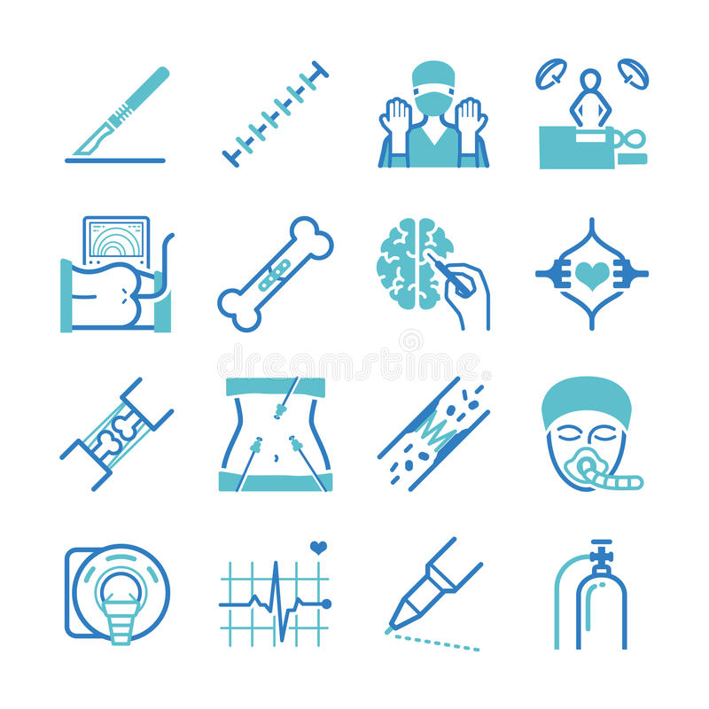 Surgery icons set vector illustration