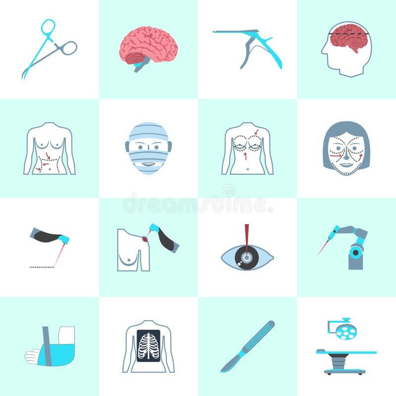 Surgery Icons Set royalty free illustration