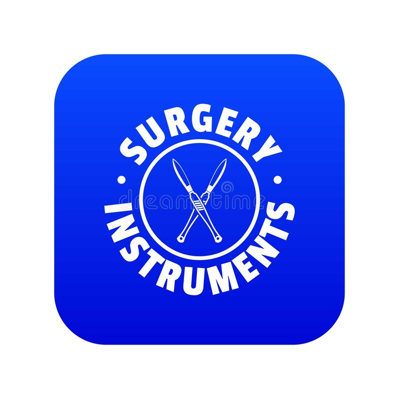 Surgery instrument icon blue vector. Isolated on white background vector illustration