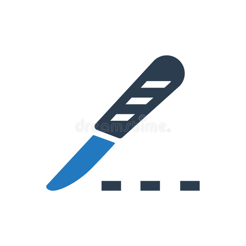 Surgery knife icon. Beautiful, meticulously designed Surgery knife icon royalty free illustration