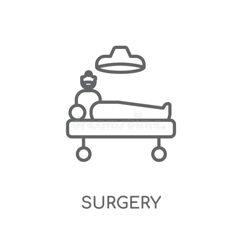 Surgery linear icon. Modern outline Surgery logo concept on whit. E background from Health and Medical collection. Suitable for use on web apps, mobile apps and stock illustration