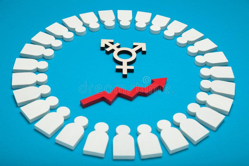 Surgery transgender, gender transition. Sexual tolerance concept.  royalty free stock photos