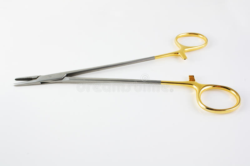 Surgical clamp stock photo