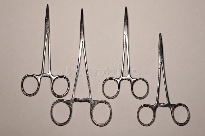 Surgical instruments in traumatology stock photos