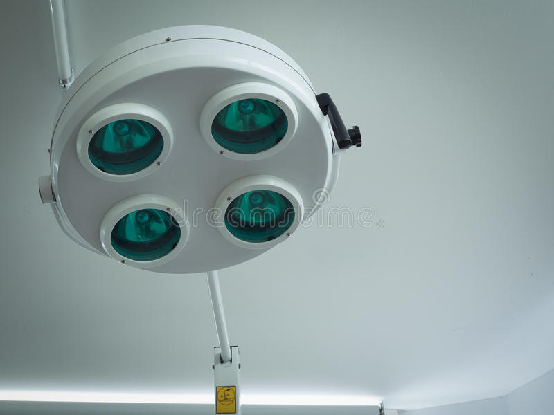 Surgical light or medical lamp in operation room royalty free stock image