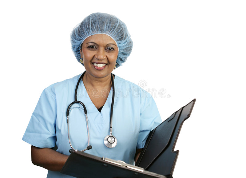 Surgical Nurse - Smiling stock image