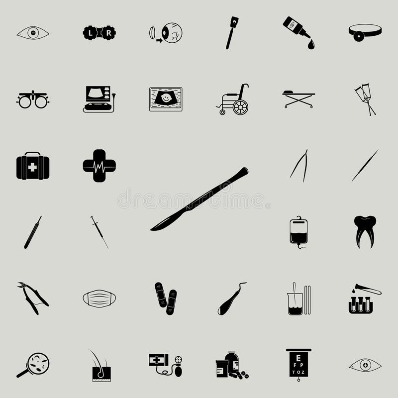 surgical scalpel icon. Medicine icons universal set for web and mobile vector illustration