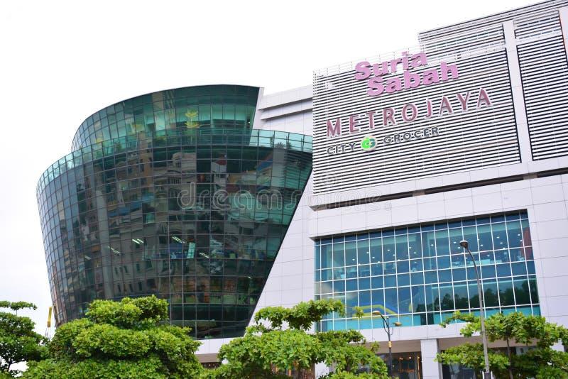 Suria Sabah Facade en Kota Kinabalu, Malasia fotografía de archivo