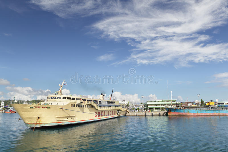 Surigao Philippines port overview stock photography