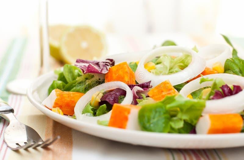 surimi салата стоковое изображение
