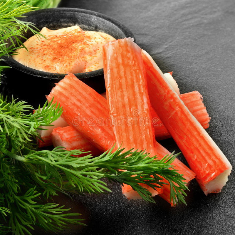 Surimi Crab Sticks royalty free stock photography