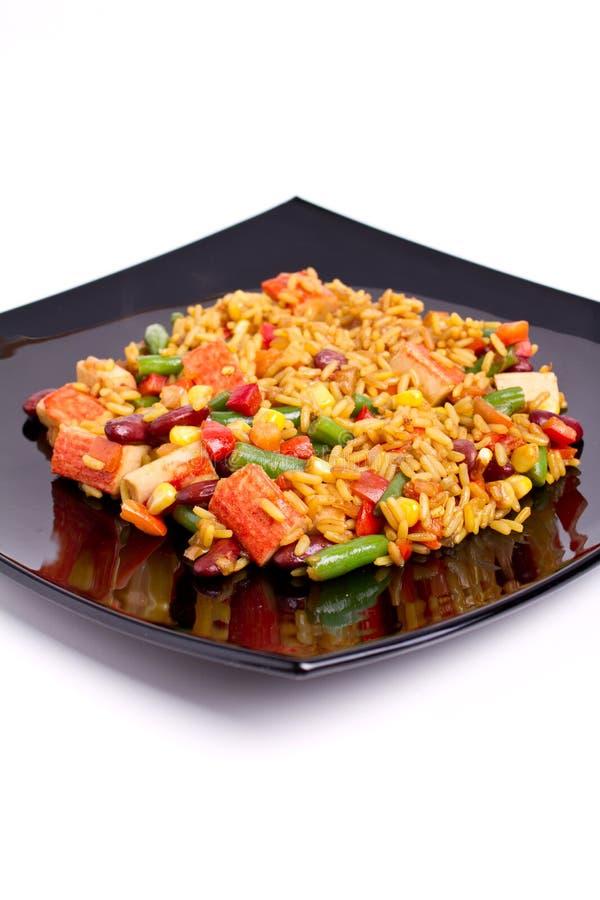 Surimi rice stock photography