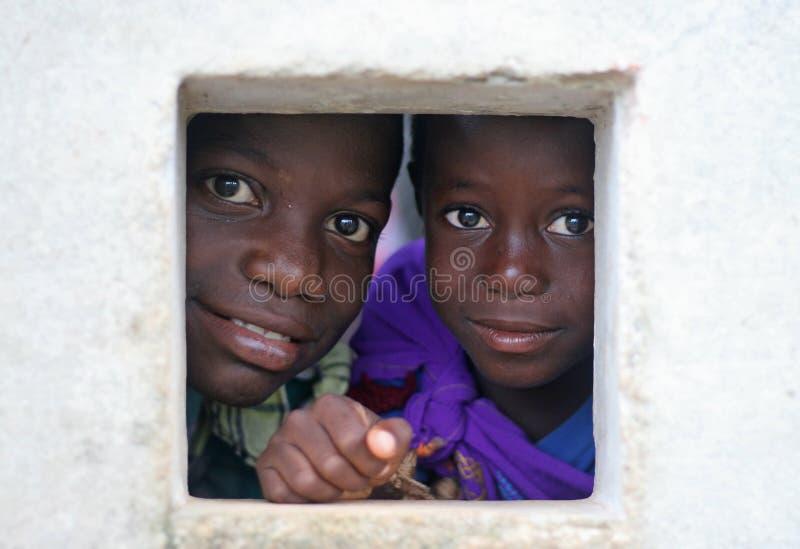 Suriname kids, at school royalty free stock photo