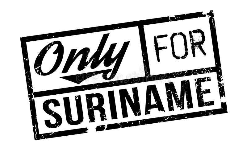 Only For Suriname rubber stamp vector illustration