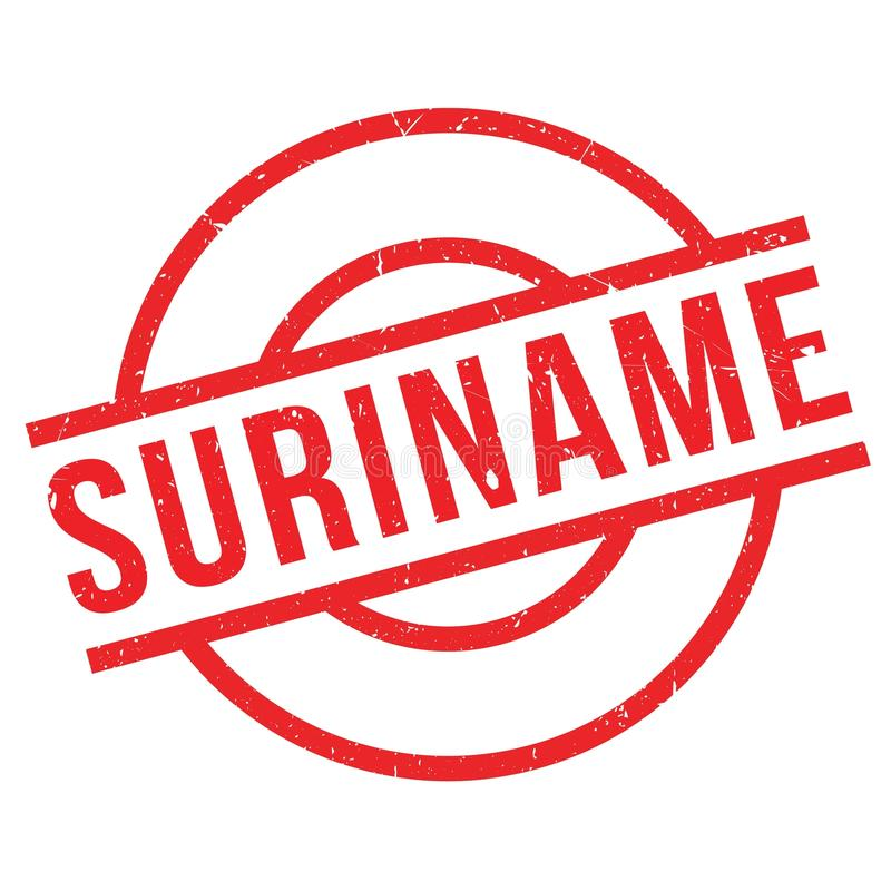 Suriname rubber stamp stock illustration