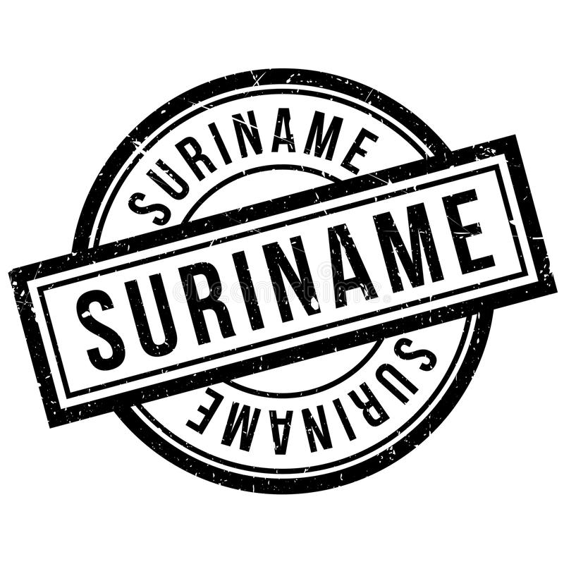 Suriname rubber stamp. Grunge design with dust scratches. Effects can be easily removed for a clean, crisp look. Color is easily changed royalty free illustration