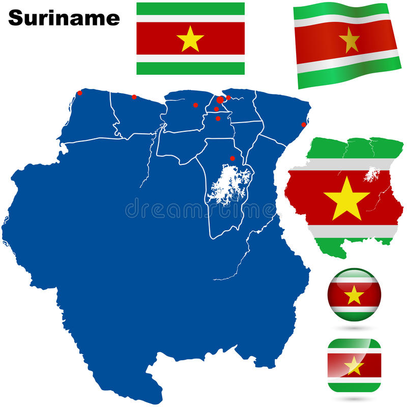 Download Suriname set stock vector. Image of regions, isolated - 32299172