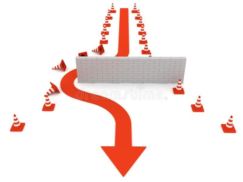 Download Surmonter des obstacles illustration stock. Illustration du mouvement - 8657230