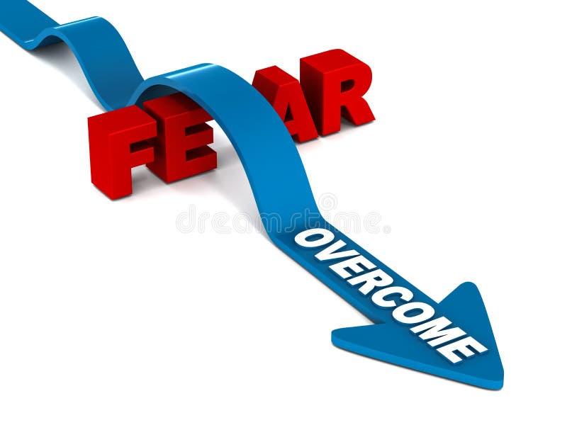 Surmontez la crainte illustration libre de droits