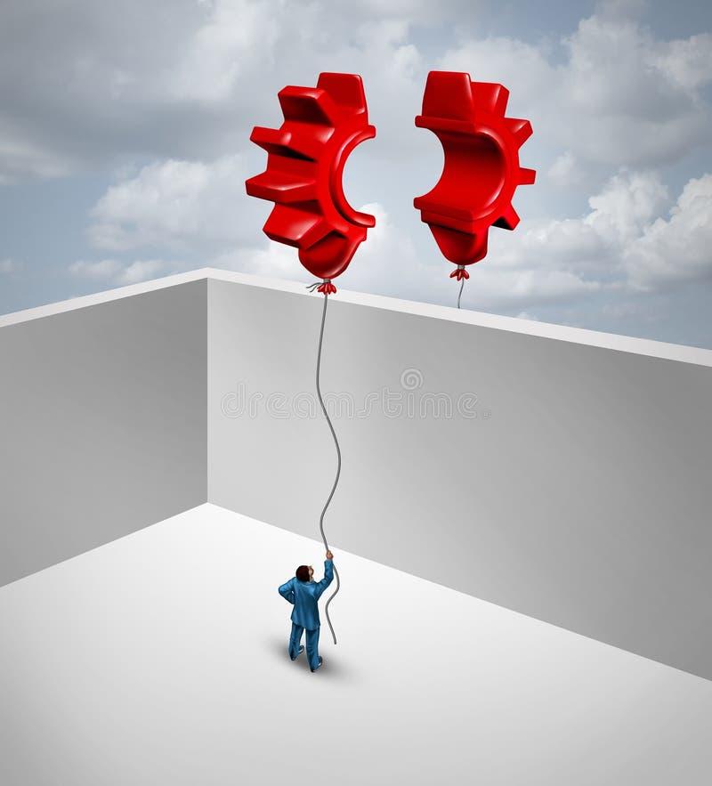 Surmontez les barrières d'affaires illustration libre de droits
