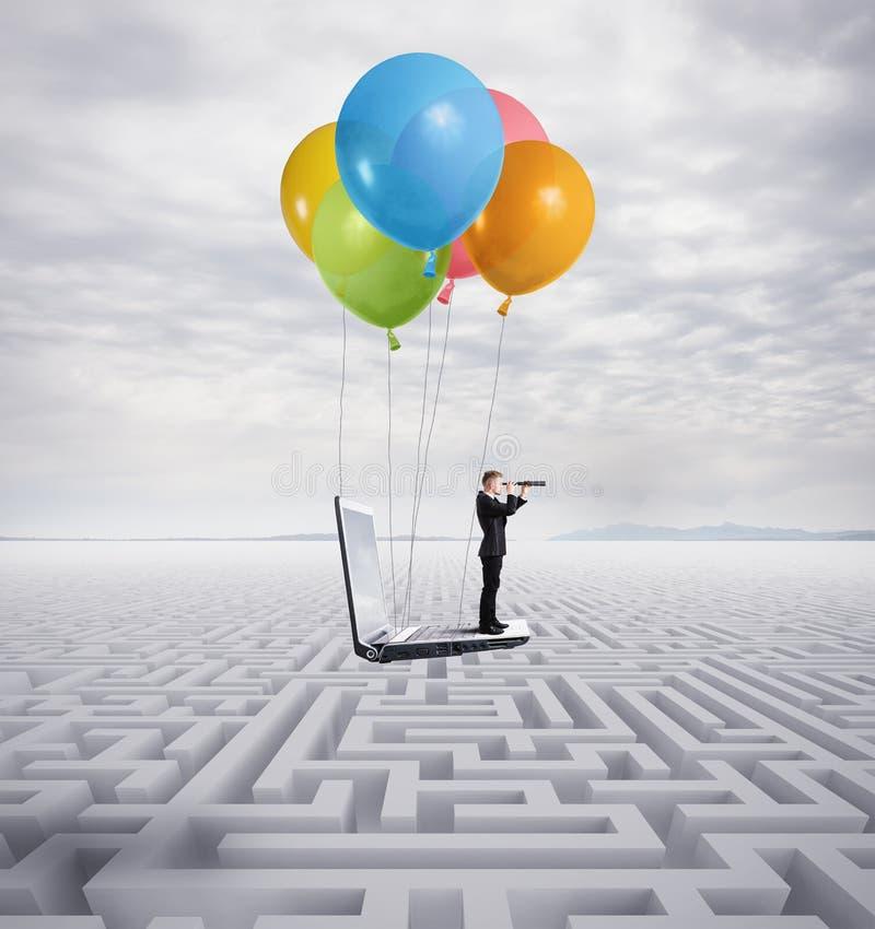 Surmontez les obstacles image stock