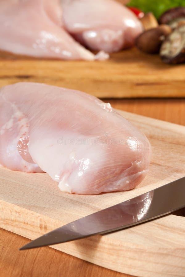 Surowa kurczak pierś fotografia stock