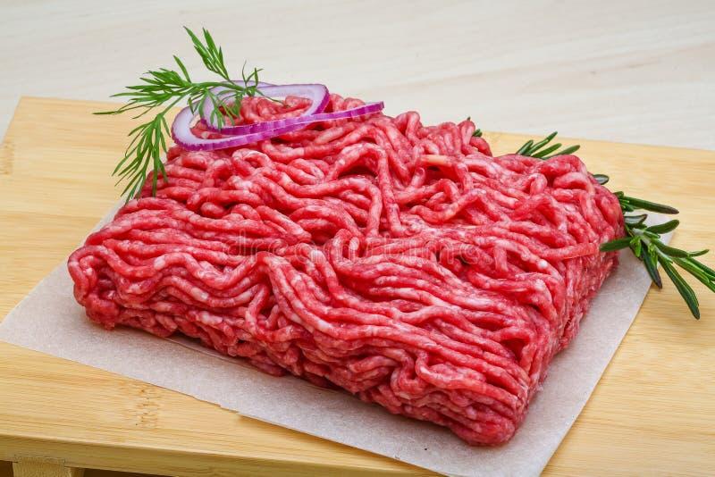 Surowa wołowina minced mięso zdjęcie stock