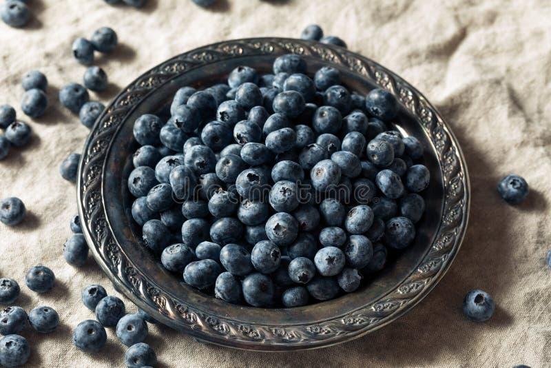 Surowe Błękitne Organicznie czarne jagody zdjęcia royalty free