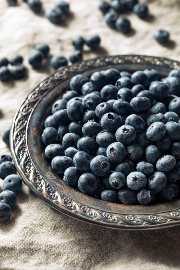 Surowe Błękitne Organicznie czarne jagody fotografia royalty free