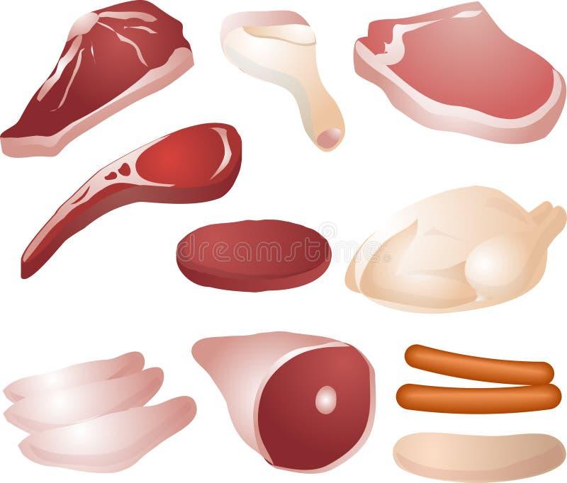 surowe mięso royalty ilustracja