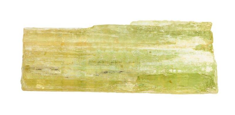 Surowego heliodoru złoty beryl, żółty beryl crysta obrazy royalty free