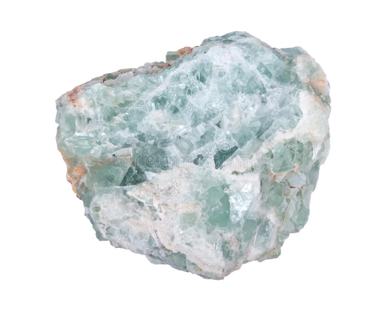 Surowego zielonego fluorytu naturalny kawał zdjęcia royalty free