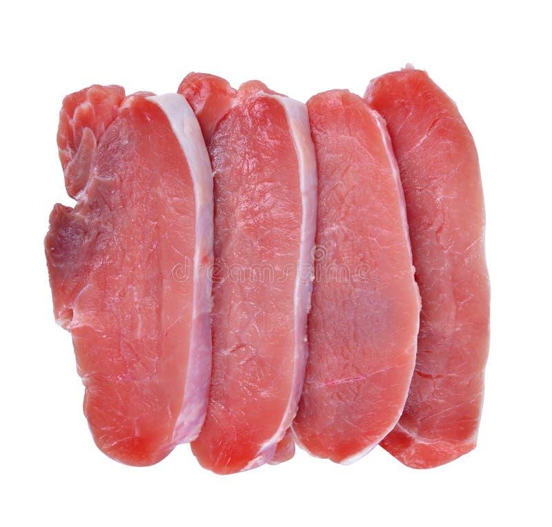 Surowi świeżego mięsa wieprzowiny kotleciki obraz stock