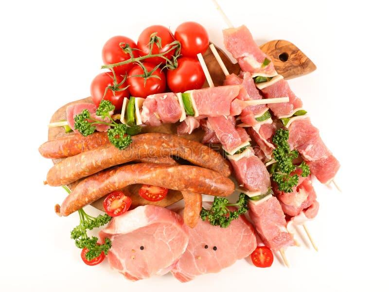 surowi asortowani mięsa obraz royalty free