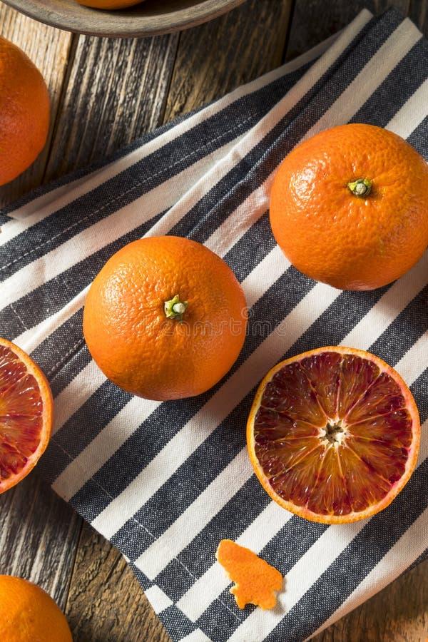 Surowi Organicznie Rubinowi tango Krwionośnej pomarańcze Clementines zdjęcia stock