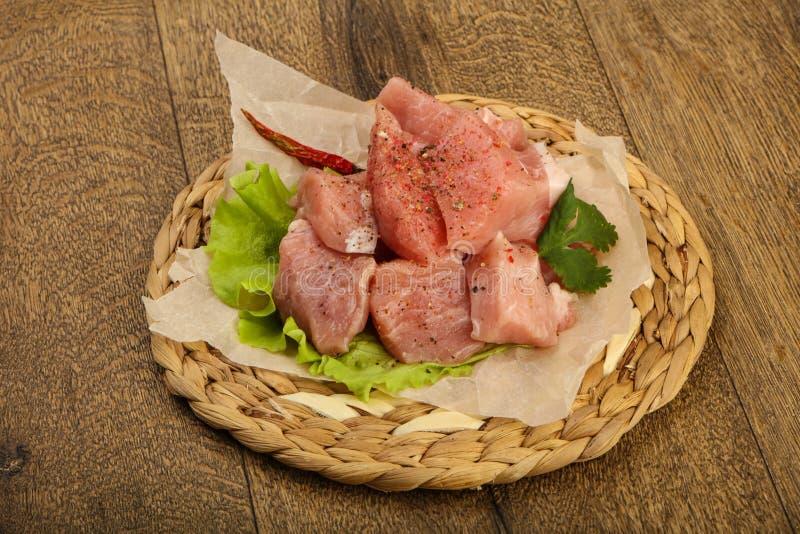 Surowi wieprzowina kawałki obraz stock