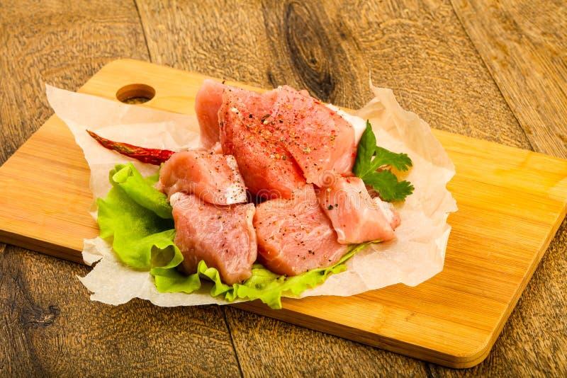 Surowi wieprzowina kawałki zdjęcie stock