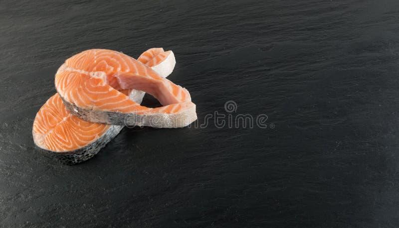 Surowy Łososiowego stku tło obraz royalty free