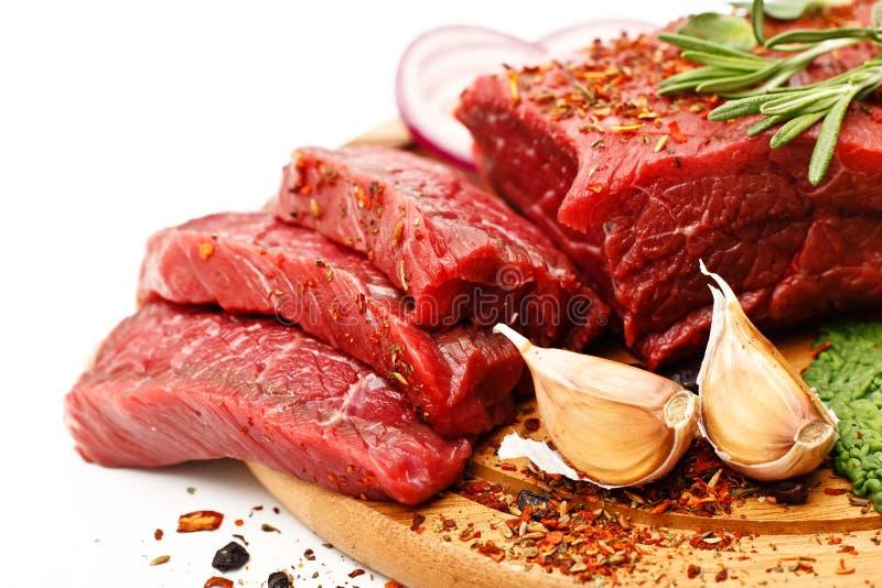 Surowy świeży mięso fotografia royalty free