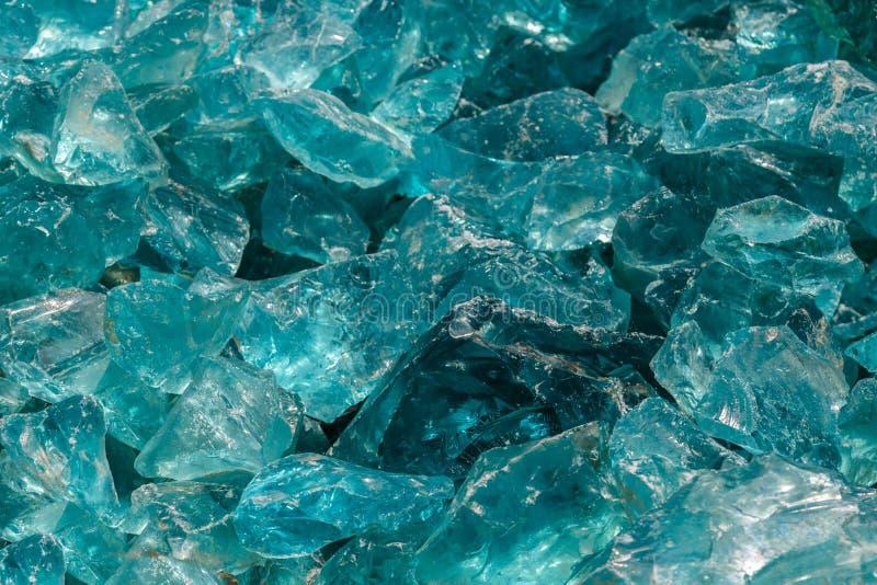 Surowy Błękitny szkło fotografia stock