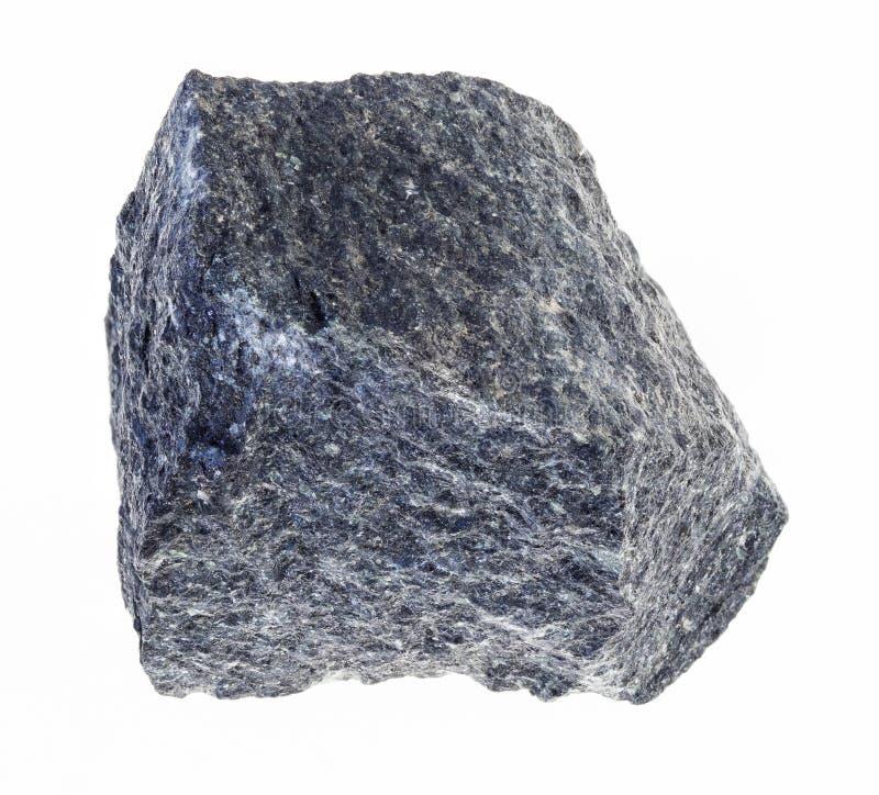 surowy gabro kamień na bielu obraz stock