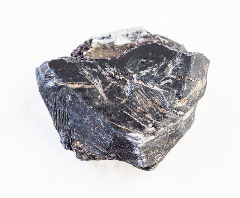 surowy hematytu kamień na bielu (haematite) zdjęcia royalty free