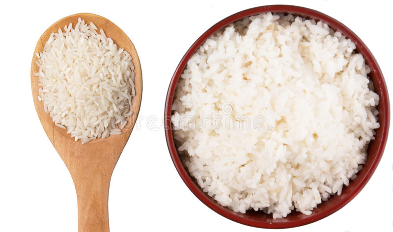 Surowy I Gotujący Rice II fotografia royalty free