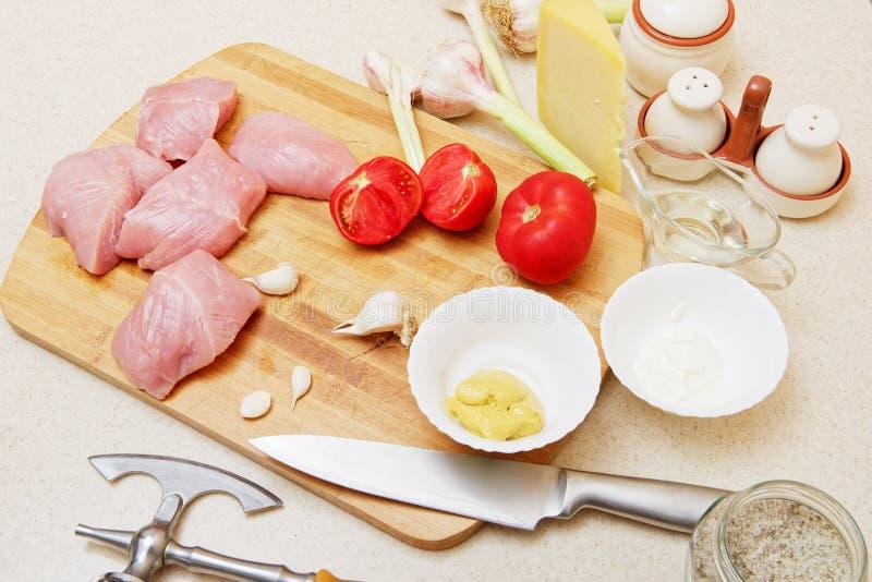 Surowy indyczy mięsny stek zdjęcie stock