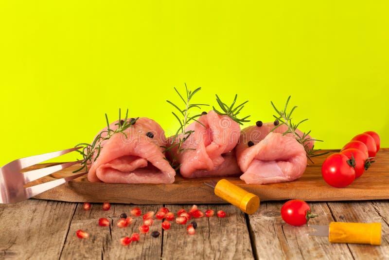 Surowy Indyczy mięso zdjęcia royalty free