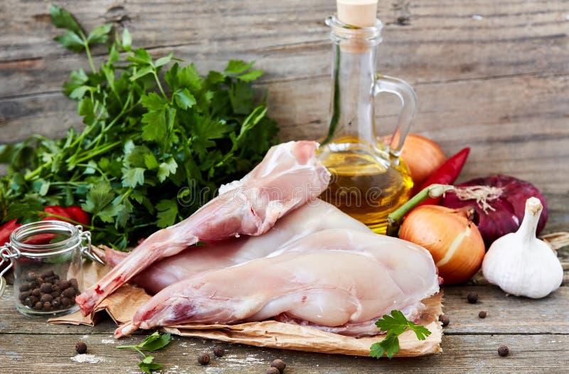 surowy mięsny królik obrazy stock