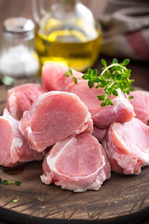 Surowy mięso, polędwicowy, tenderloin zdjęcie stock