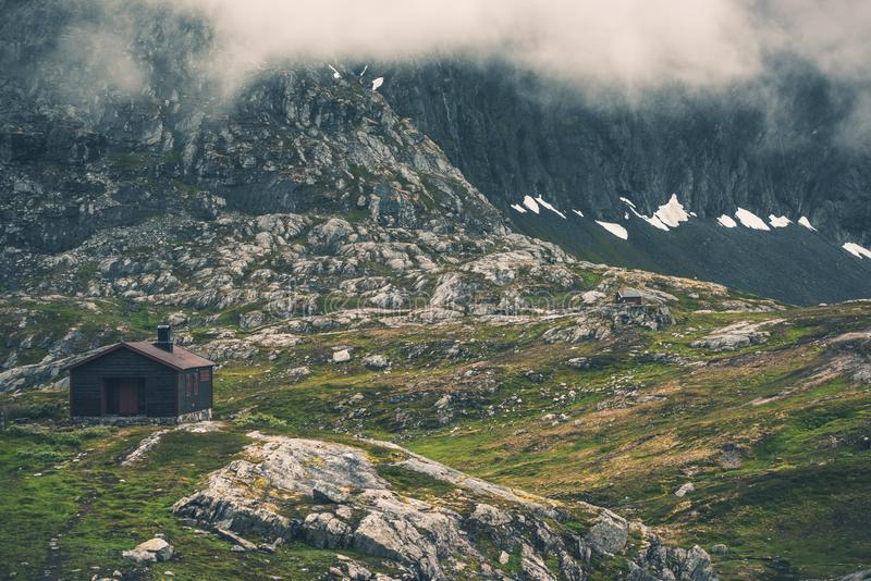Surowy norwegu krajobraz zdjęcie stock