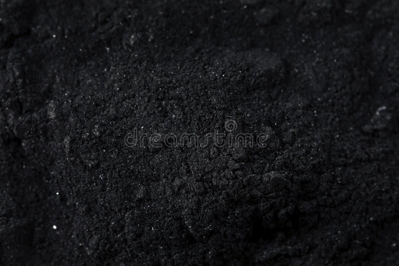 Surowy Organicznie Czarny Aktywowany węgiel drzewny zdjęcie stock